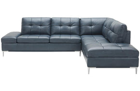 Kyle Sectional Sofa Blue with Storage
