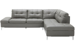 Kyle Sectional Sofa Grey with Storage