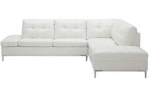 Kyle Sectional Sofa White with Storage