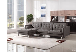 Linda Gray Fabric Sectional Sofa