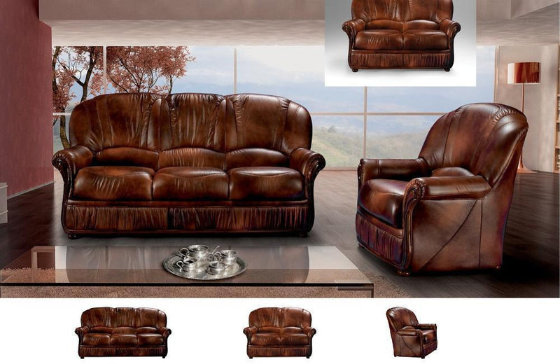 Aurora Modern Leather Sofa Set