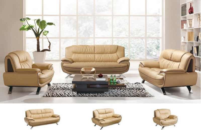Cody Modern Leather Sofa Set