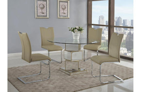 Abree and Bamhi Taupe 5 PC Dining Set