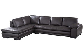 Santino Brown Leather Sectional Sofa