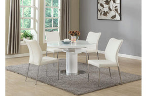 Placido 5 PC  White Dining Set