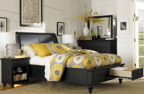 Cambridge Sleigh Storage Bed Black