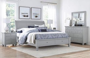 Cambridge Sleigh Storage Bed Gray