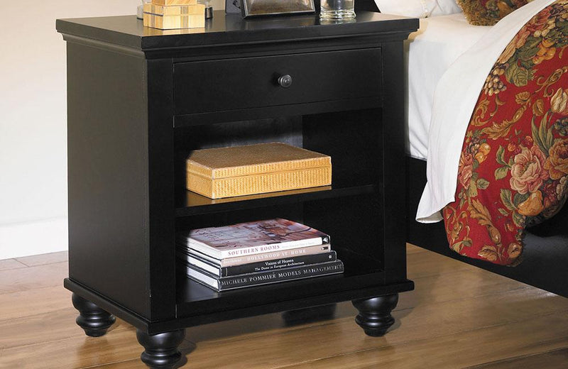 Cambridge 1 drawer Nightstand Black