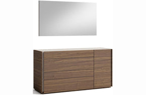 Ellis Walnut with Light Grey Dresser