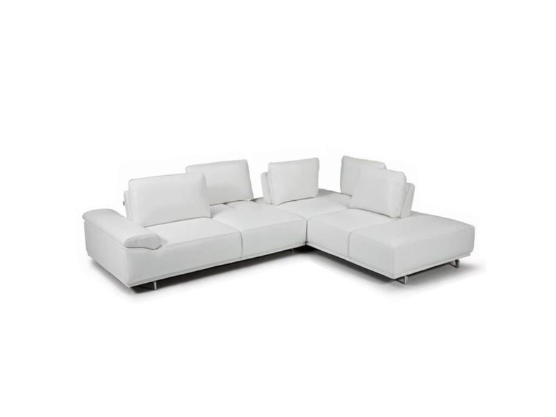 Braylen Modern Leather Sectional Sofa