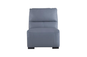 Aldous Aqua Leather Armless Chair