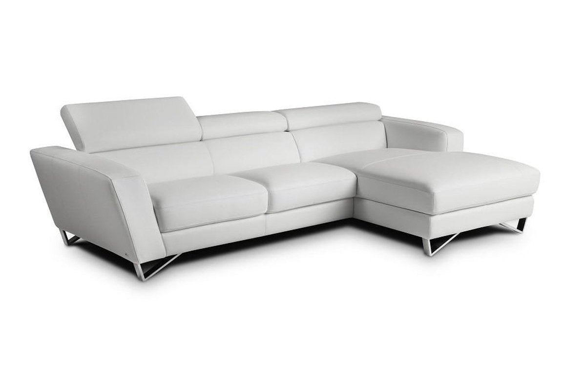 Excellent Sparta Mini White Italian Leather Sectional Sofa Andrewgaddart Wooden Chair Designs For Living Room Andrewgaddartcom