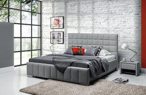 Stefanie Gray Platform Upholstered Bed by Nordholtz