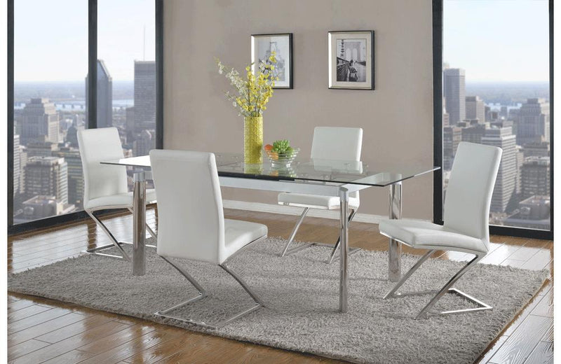 Ilaria Clear And Umberto 5 PC Dining Set