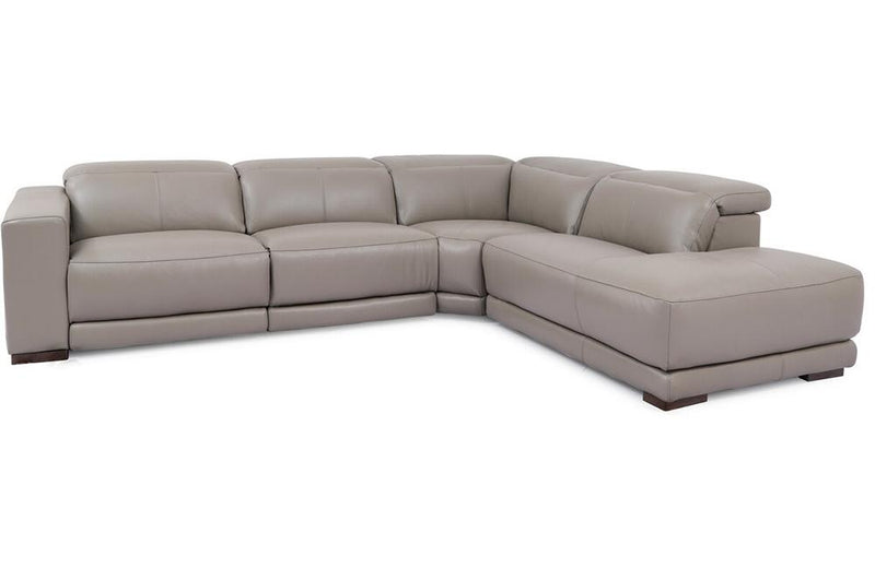 Austin Taupe  4 PC Leather Sectional Sofa