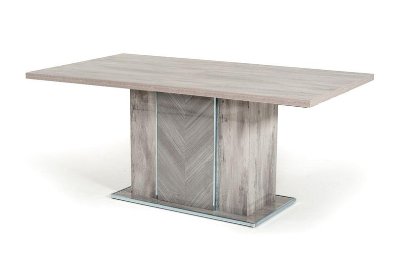 Alexa Italian Modern Gray Extendable Dining Table