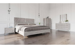 Alexa Italian Modern Bedroom Set Gray