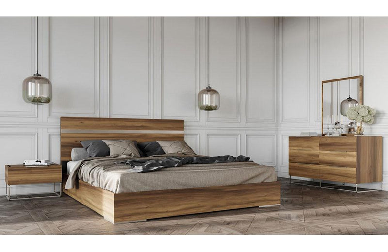 Lorenzo Italian Modern Light Oak Bedroom Set
