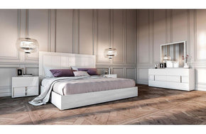 Nicla Italian Modern White Bedroom Set