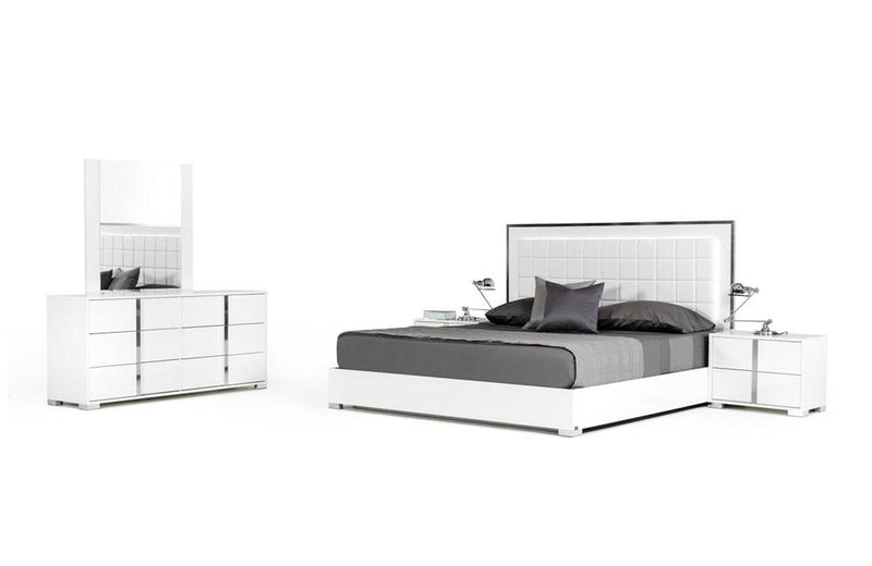 San Marino Modern Bedroom Set White