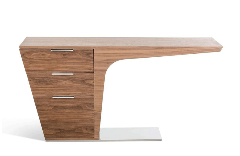 Bismarck Contemporary Walnut Desk Brown