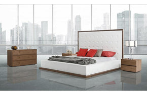 Beth Modern Walnut Bed