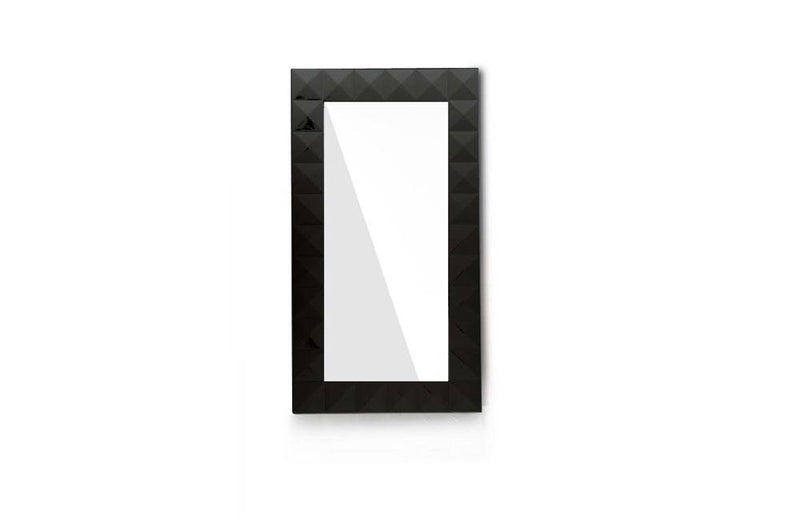 Eva Vertical Standing Lacquer Floor Mirror Black