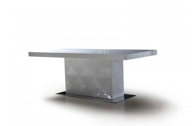 Eva White Lacquer Modern Dining Table