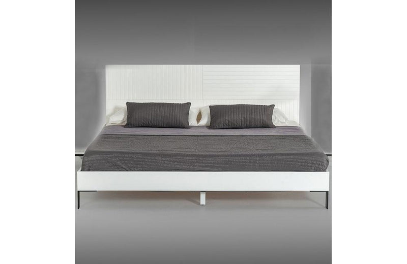 Valencia Contemporary White Bed