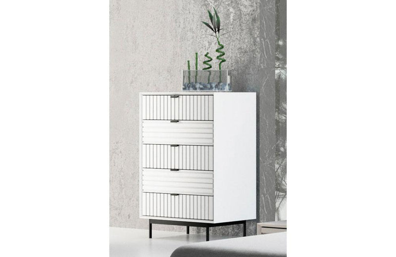 Valencia Contemporary White Chest