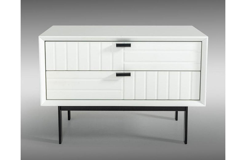 Valencia Contemporary White Nightstand