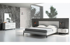 Valencia Contemporary White Bedroom Set