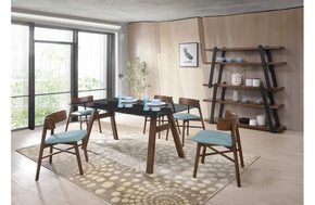Travis & Tobias Modern Walnut 8 PC Dining Set