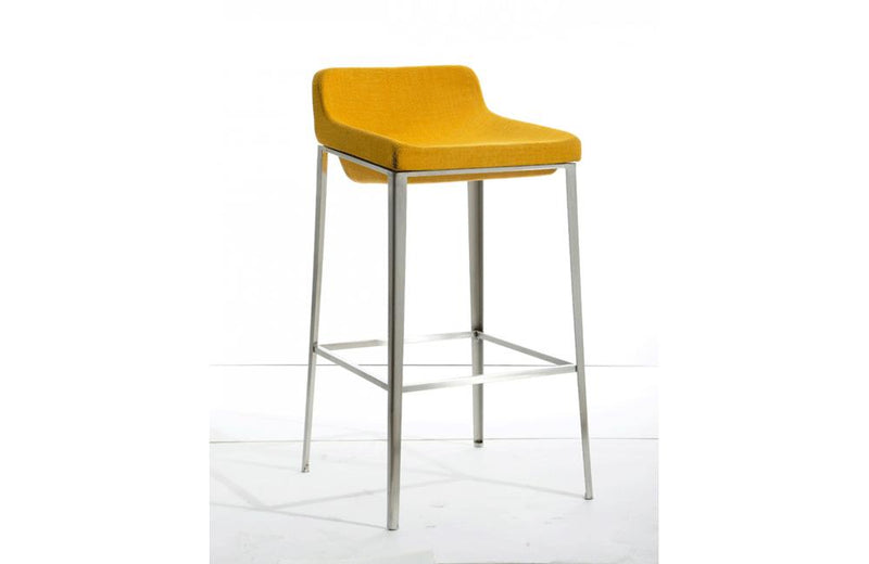 Adhil Modern Fabric Barstool Yellow