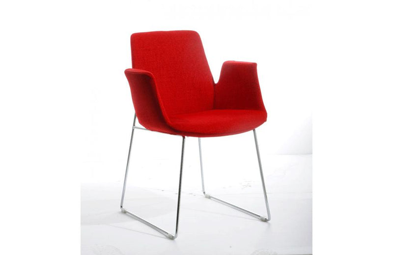 Altair Modern Fabric Dining Chair Red