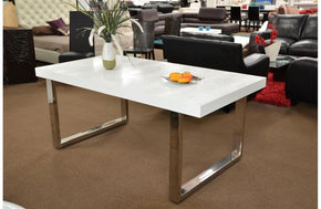 Skyline Modern Crocodile Lacquer Dining Table White