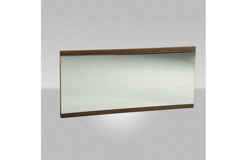 Rondo Modern Walnut Mirror