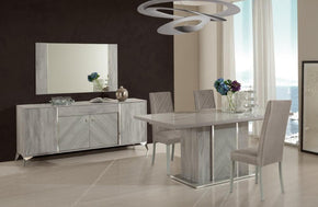 Valeria Italian Modern Grey Dining Table Set