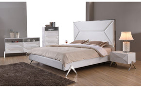 Modrest Candid Modern White Bed