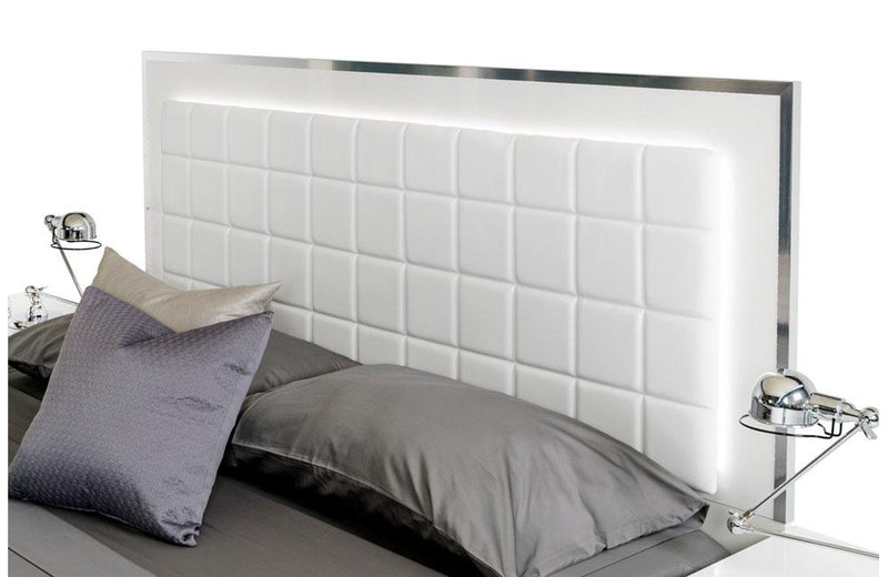 San Marino Modern Bed White