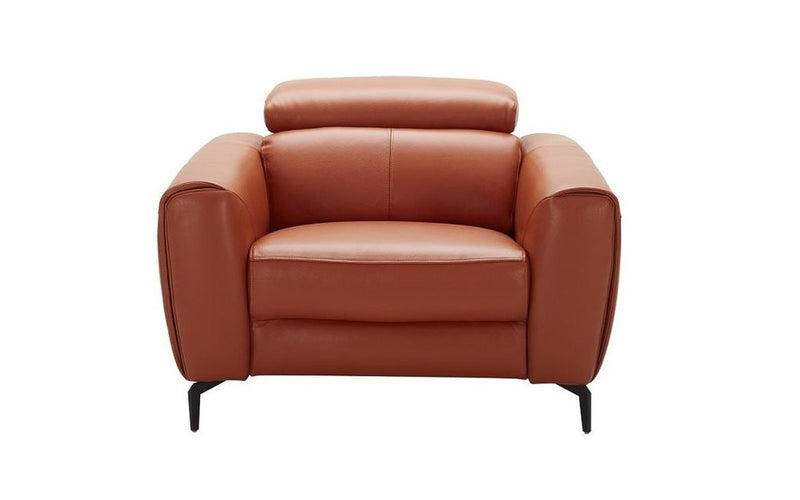 Cooper Orange Leather Sofa Set