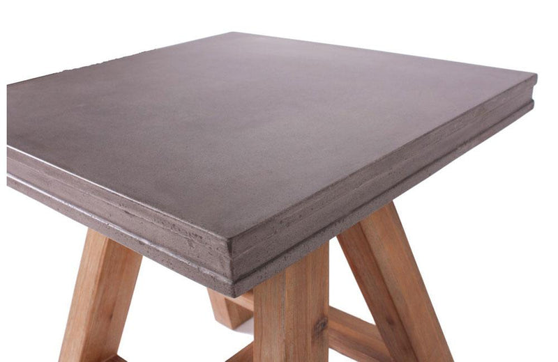 Civic Modern Concrete & Acacia End Table