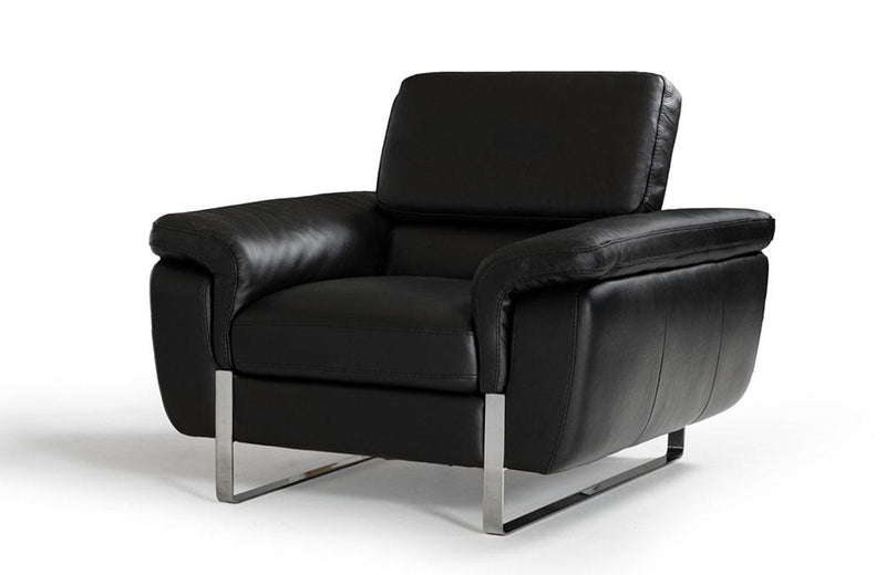 Caitlyn Modern Leather Sofa Set