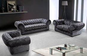 Savanna Modern Fabric Sofa Set