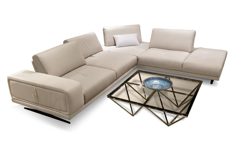 Cruz Italian Modern Leather Sectional Sofa