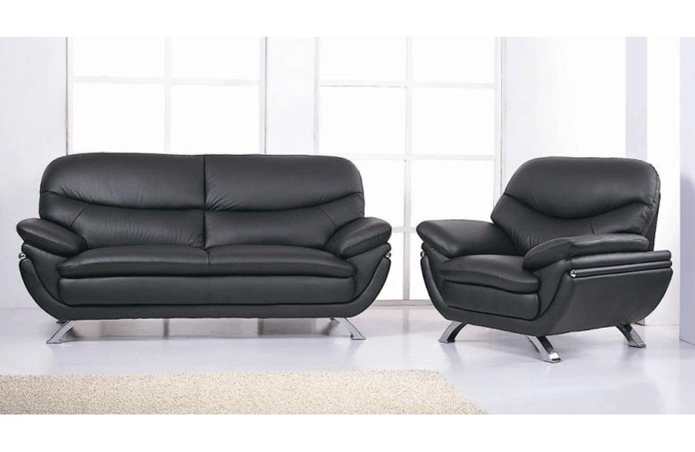 Makarios 2PC Living Room Set Black