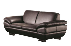 Enrico Brown Leather Loveseat