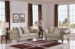 Tanner Modern Fabric Sofa Set