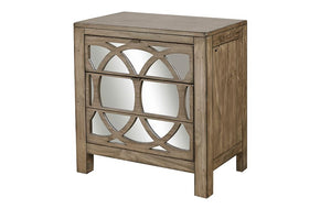 Tildon 2 Drawer Liv360 Mirror Nightstand