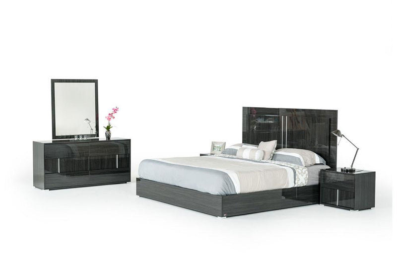 Ari Italian Modern Gray Bedroom Set